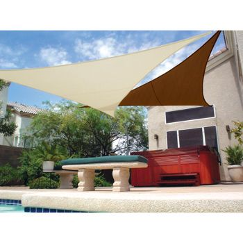 Coolaroo ready to hang shade sail 10 by 11 feet at for Shade sail cost
