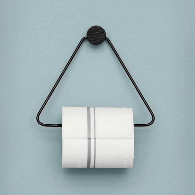 Ferm Living Toiletrolhouder 17,5 - 15 cm - Zwart - afbeelding 3