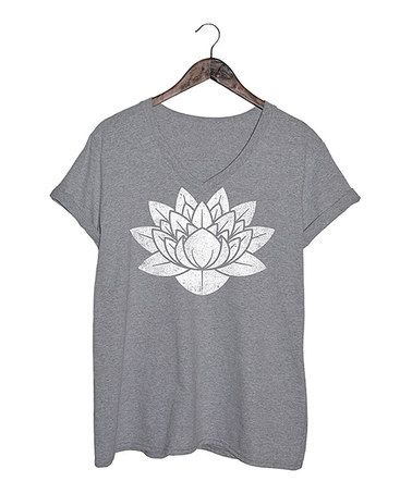 Look at this #zulilyfind! Athletic Heather Lotus Flower Tee - Plus #zulilyfinds