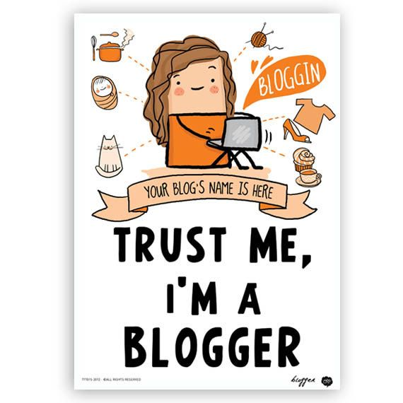 Blogger Poster wall art room decor blogger for her by  #Illustrate It! OipsStore, $15.00