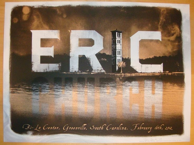 2012 Eric Church - Greenville Concert Poster by Jon Smith