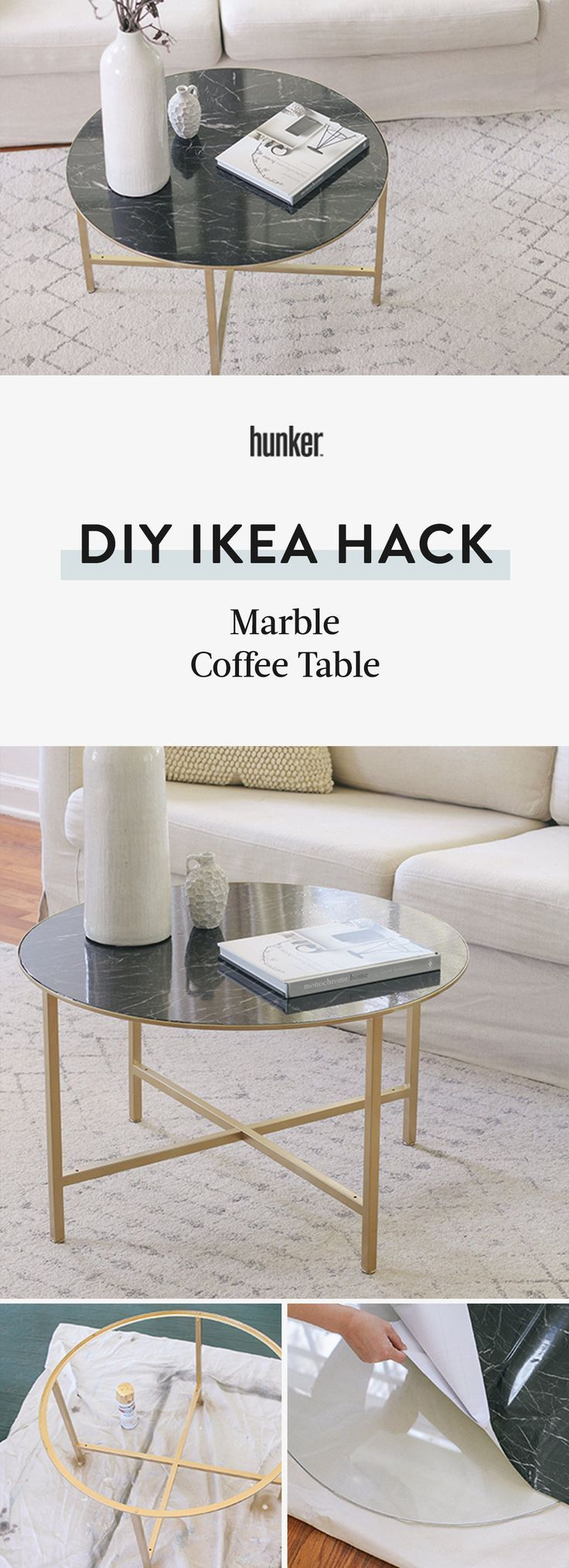 You Need A New Coffee Table And This Ikea Hack Delivers Caution Serious Chicness Ahead Hunker Coffee Table Ikea Diy Table Diy Marble Table [ 2028 x 736 Pixel ]