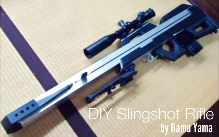 VIDEO: Believe it or not, but this is actually a SLINGSHOT gun! The video shows how Hamu Yama engineers, builds, and fires this modern DIY hand catapult. Brilliant //