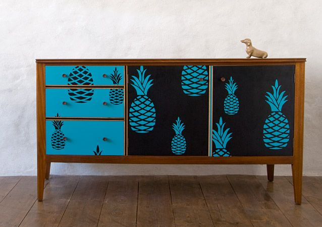 Pineapple retro sideboard