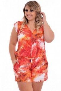 Macaquinho Plus Size Summer Girl