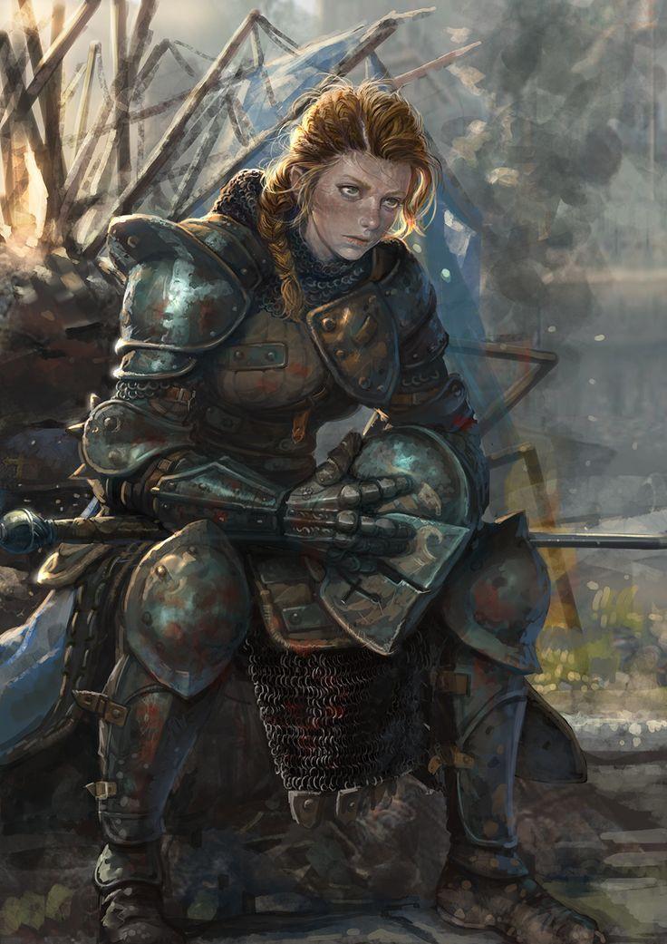 Lady Knight (from For Honor), Kim Junghun on ArtStation at https://www.artstation.com/artwork/lKdY5