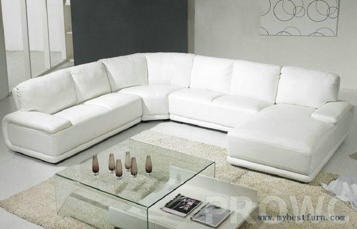 Simplicity White Sofa Settee Modern Furniture U shaped hot sale house furniture, classic design sofa set  Living Room Furniture