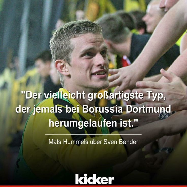"""Probably the greatest guy, who ever ran around at Borussia Dortmund."" Mats Hummels about Sven Bender #Manni2021"