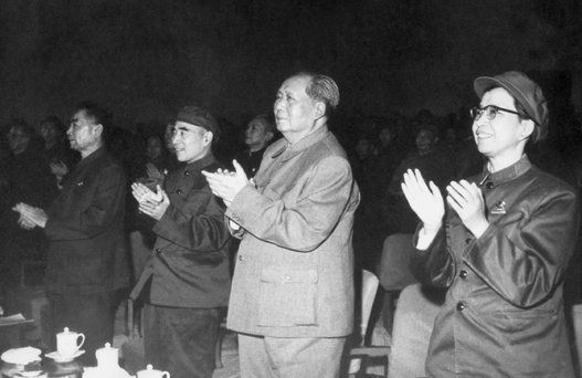 BIO-MAO ZEDONG-CULTURAL REVOLUTION-ZHU ENLAI-LIN PIAO-JIANG QING  From left: Chinese top communist leaders Zhu Enlai (1898-1975), Prime Minister of the People's Republic of China from its inception in 1949 until his death, Lin Piao (1907-71), minister of defense and supporter of the Cultural revolution, Mao Zedong (1893-1976), leading theorist of the Chinese communist revolution, chairman of Chinese Communist