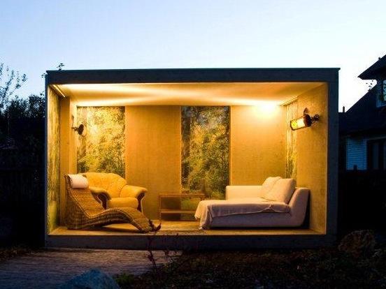 Modernt utomhusrum
