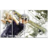 Found it at Wayfair - Baseball Batter 4 Piece Graphic Art on Wrapped Canvas Set