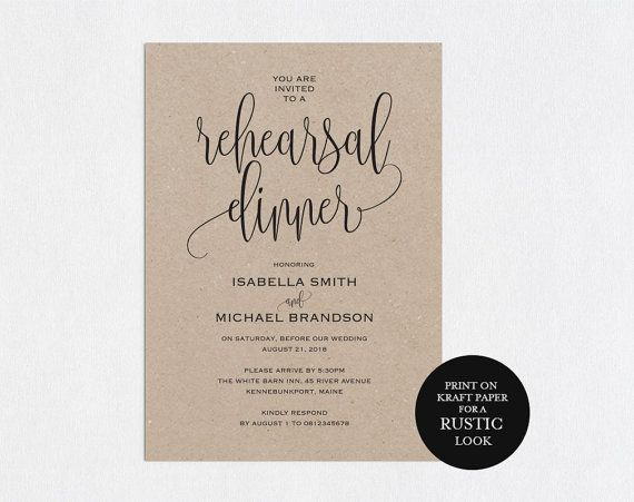 The 25+ best Dinner invitation template ideas on Pinterest - free dinner invitation templates printable