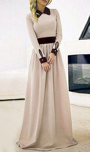 Flat Collar Maxi Dress