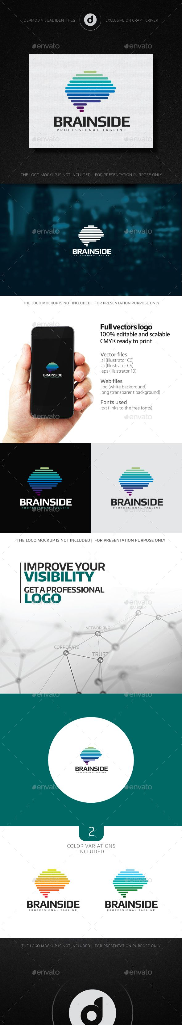 Brain Side Logo Template Vector EPS, AI. Download here: http://graphicriver.net/item/brain-side-logo/13903516?ref=ksioks