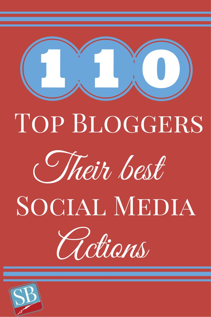 110 Top Bloggers And Entrepreneurs Share Their Most Successful Social Media Action