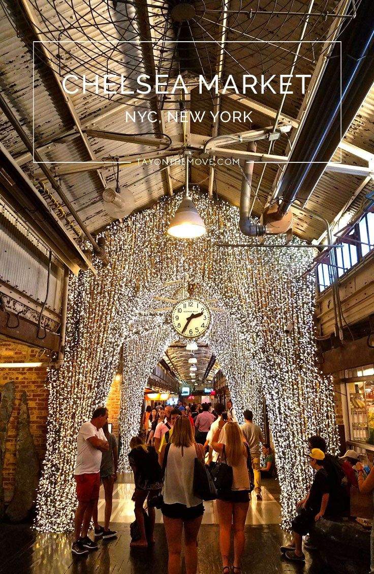 Chelsea Market, NYC - A great place to stop by for lunch while walking through New York City!