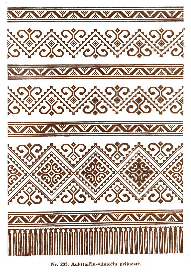Lithuanian weaving pattern