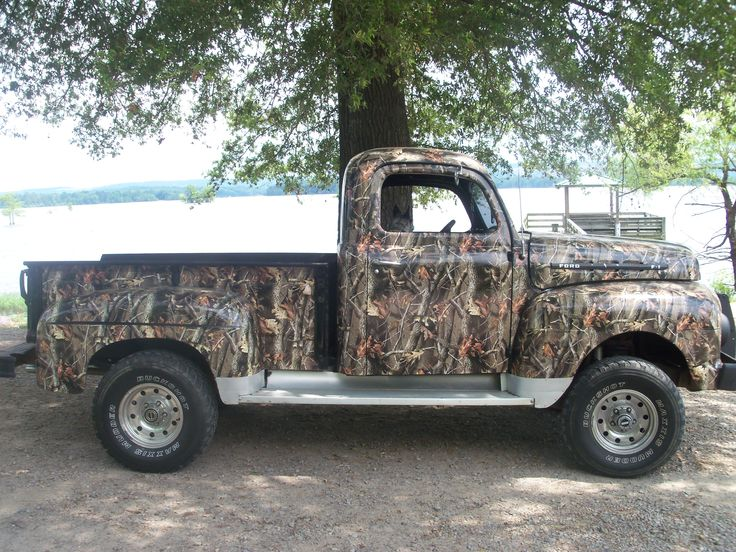 The old F1 Ford done in Realtree Hardwoods! We offer a