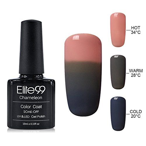 Elite99 10ML UV LED Thermal Temperature Color Changing Gel Nail Polish Soak Off Nail Lacquer 4221