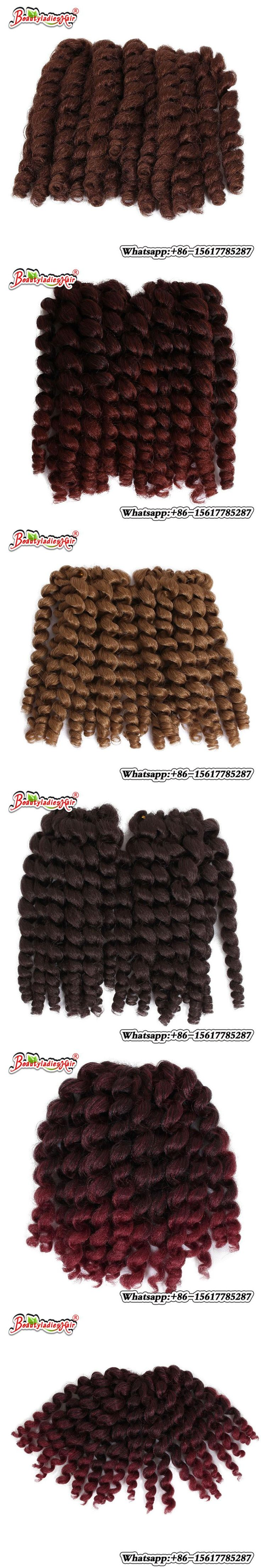 "Braiding Jumpy Wand Curl Bounce Twist Crochet Braids 8"" 20strands/pc Kanekalon Synthetic Hair Extensions"