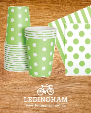Green Paper Eskimo Party Styling now available on the Ledingham Website. www.ledingham.net.au