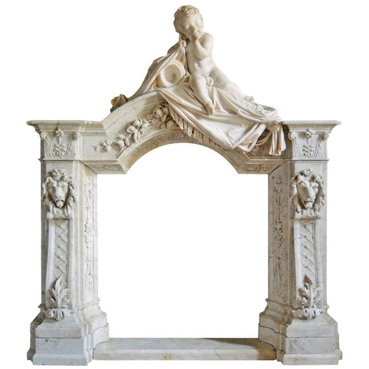 Unusual Cherub Chimneypiece | From a unique collection of antique and modern fireplaces and mantels at https://www.1stdibs.com/furniture/building-garden/fireplaces-mantels/