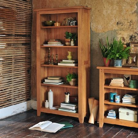 Rustic Oak Large Bookcase 5 Shelves 608018 Quality Wooden Furniture At Great Low Prices From PineSolutions