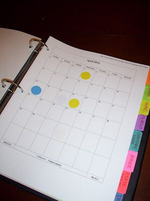 Bills Binder. A simple method of tracking what is due, and when, with the visual of marking bills and pay checks on the calendar. Might be a good way to organize, in addition to using Manilla online.