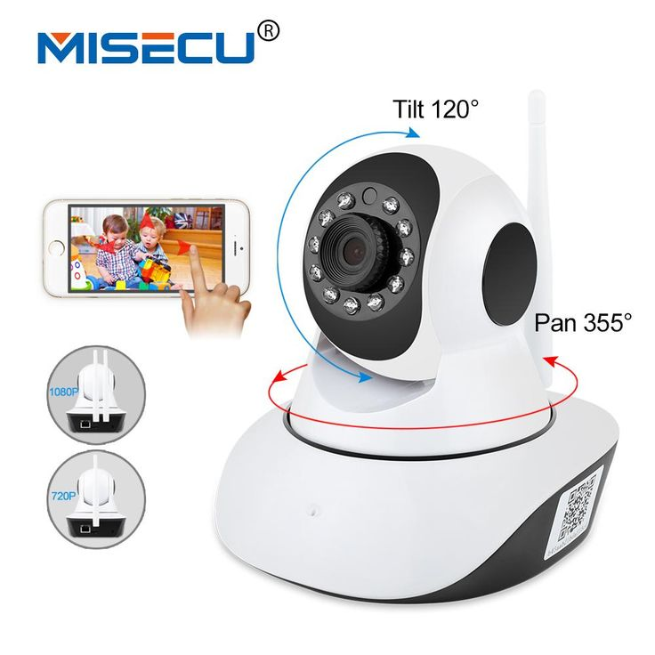 [Visit to Buy] MISECU Pan Tilt 1080P Wifi Full 355 degree rotation 720P Camera Audio Wireless SD Card Onvif P2P Email alert Night Baby Monitor #Advertisement