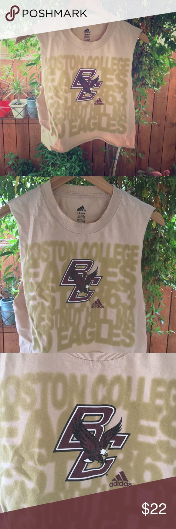 Women's XS cropped tank top Boston College We alter this children's t shirt fits perfect as an extra small or small women's tank Vintage Tops Crop Tops