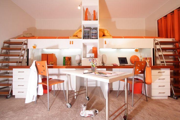 Dormitorio de chicas, Lima - Perú. By ALMA Arquitectura e Interiores. #Bedroom  #ProyectosAlma