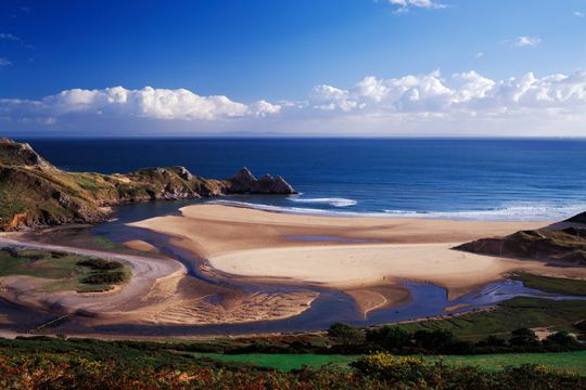Three Cliffs Bay, Gower Peninsula, South Wales awe inspiring