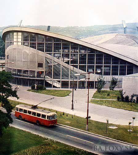 """Sport hall """"na Pasienkoch"""" Jozef Chovanec, Jozef Poštulka Bratislava, Czechoslovakia 1962"""