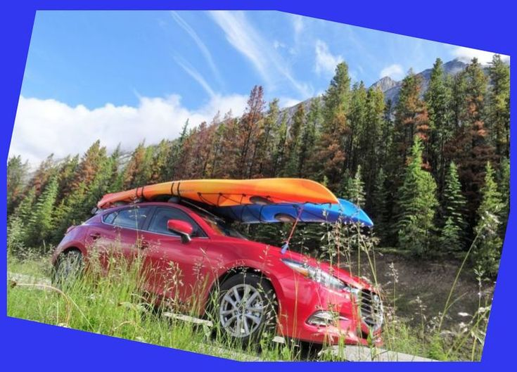 how to ratchet strap kayak to roof rack