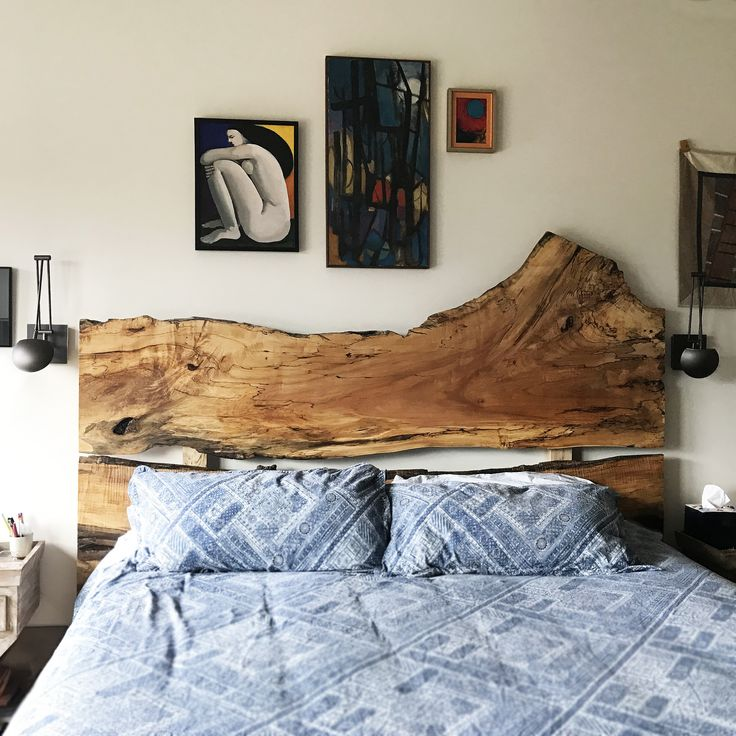 Excelsior Wood Products Live Edge Headboard