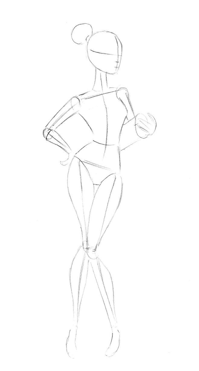 Как нарисовать спортивную девушку карандашом поэтапно?