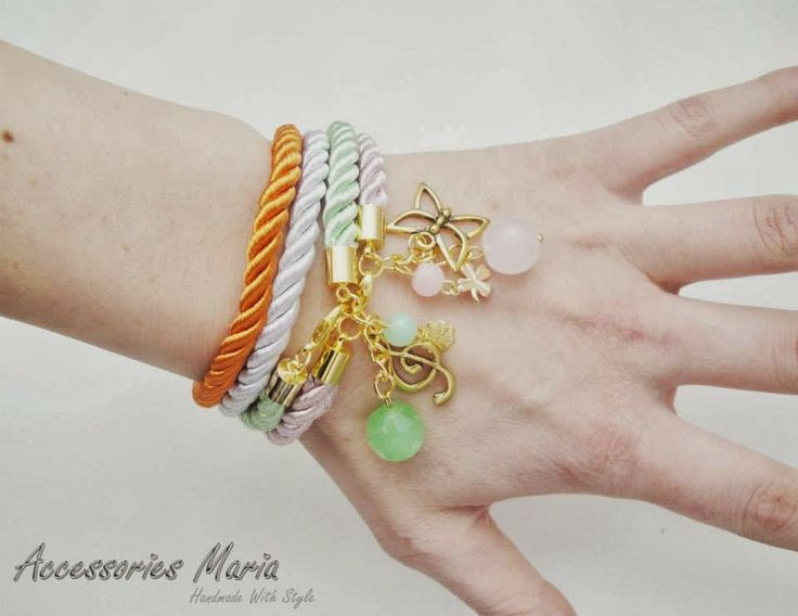 Accessories Maria #Colorful #bracelets #gold #handmade #jewelry #accessories #fashion #2014 #spring #summer #love #fericire #Sibiu