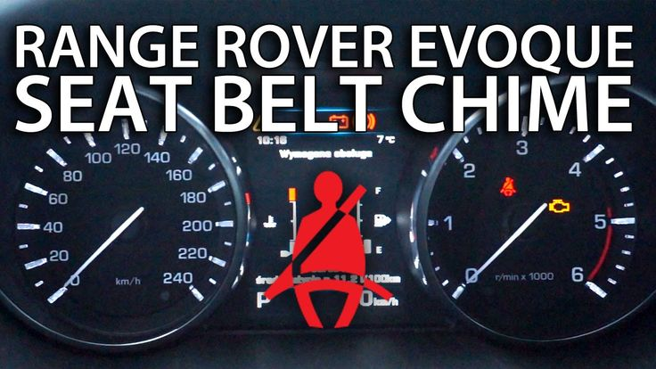 How to disable seat belt warning chime in #RangeRover #Evoque (#LandRover)