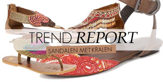 sandalen met kralen