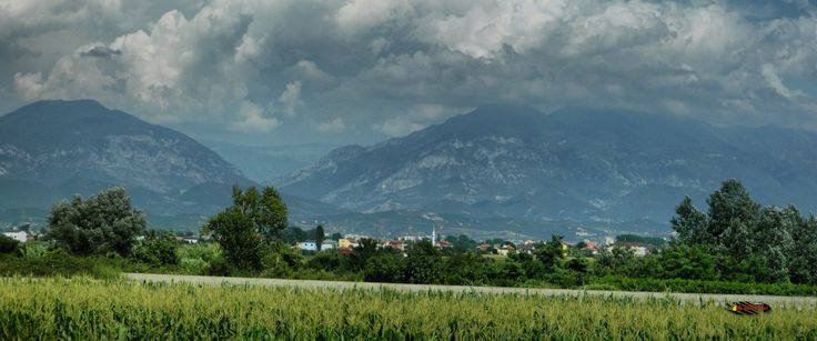 Somewhere in Albania, photo from the bus, Nikon Coolpix L310, 23.2mm, 1.640, ISO80, f/4.7, -1.0ev, panorama mode:segment 2, HDR-Art photography, 201607061525