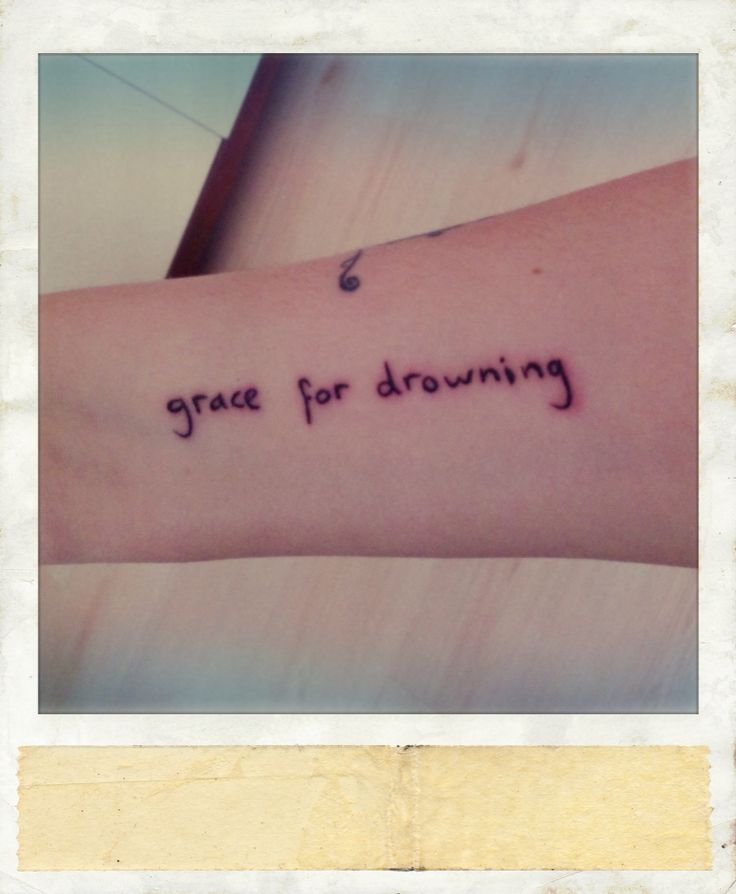 """Grace for drowning.""   #Tattoos #Stevenwilson #Gracefordrowning #Polamatic #Myarm"