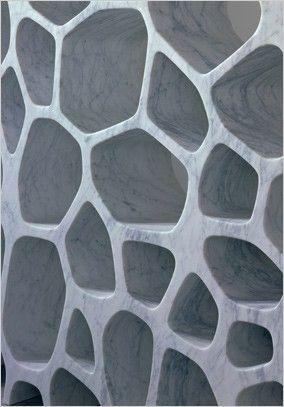 Marc Newson, Voronoi Shelf Detail in White Carrara Marble
