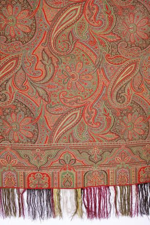 A double sided square Paisley shawl. Lot 97. A double sided square Paisley shawl. Sold for £216
