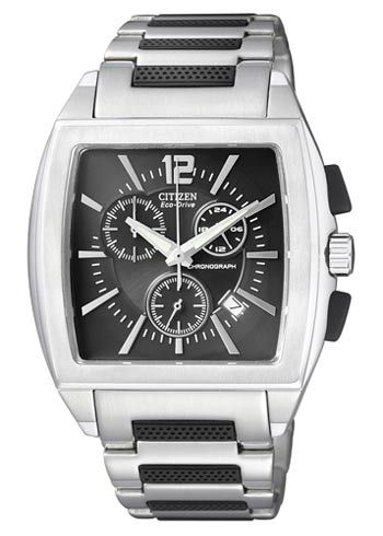 Citizen watch | AT0585-50E |  Ecodrive| chonograaf | 10 bar | kristal glas | metalen band en kast | €275