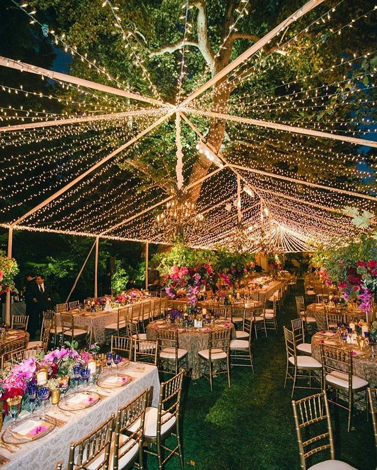 Colorful Outdoor Wedding with Supper Club Theme