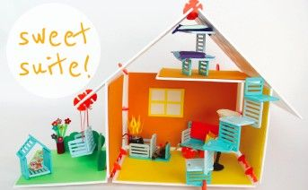 Roominate: A Building Toy for Girls  -- DIY wired dollhouse building kit