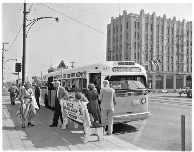 Public Bus, Glendale, California, 1955