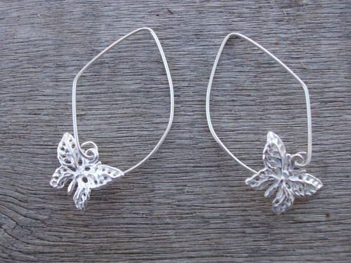 'On the Wing' Filigree Butterfly Eco friendly Sterling Silver Earrings http://www.feminine-fusion.com/store#!/~/product/category=4652233=25215286