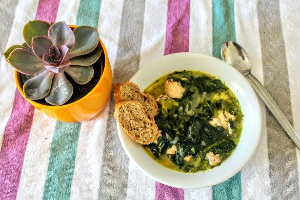 Chicken Fricassee with Spinach & Herbs