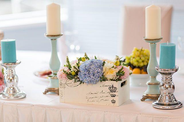 Бело-голубая свадьба Анатолия и Анны